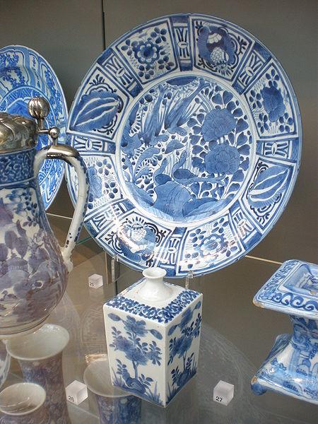 File:BLW Japanese Porcelain Dish and Bottle.jpg
