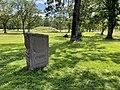 BORREHAUGENE Borreparken Borre Burial Mounds HORTEN Oslofjorden Norway Steinstøtte Velkommen til Borreparken Gressklipper Sommer etc 2021-07-08 IMG 8296.jpg