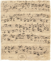 Autograph der Choralbearbeitung Wie schön leuchtet der Morgenstern BWV 739 aus Bachs Arnstädter Zeit (Quelle: Wikimedia)