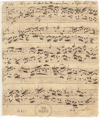 "Lutheran chorale - The autograph of Bach's chorale prelude on the hymn ""Wie schön leuchtet der Morgenstern"", BWV 739"