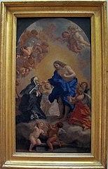 Une bienheureuse abbesse recevant la communion des mains du Christ