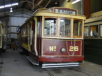 Trams in Ballarat - Ballarat Tram No.26 in the Wendouree Depot