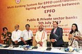 Bandaru Dattatreya at the signing of the agreement between EPFO and public and private sector banks for Multiple Banking System for EPFO contribution and payments, in New Delhi (2).jpg