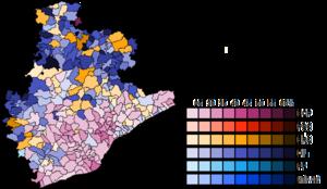 Barcelona (Congress of Deputies constituency) - Image: Barcelona Municipal Map Congress 2015
