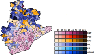 Barcelona (Congress of Deputies constituency) - Image: Barcelona Municipal Map Congress 2015