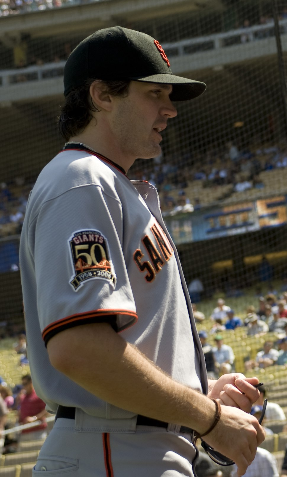 Barry Zito at Giants at Dodgers 2008-09-21
