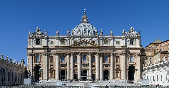 Main facade of Saint Peter's Basilica, Rome