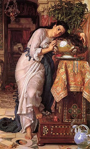 Isabella, or the Pot of Basil - Isabella and the Pot of Basil by William Holman Hunt, 1868