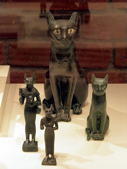 Bastet, a feline goddess of ancient Egyptian religion who was worshipped at least since the Second Dynasty, Neues Museum, Berlin (8176557415)