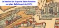Bastion de la porte Saint-Antoine sur plan Belleforest de 1575.png