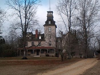 Batsto Mansion with Fire Tower.jpg