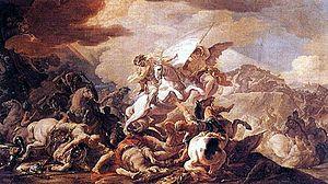 Battle of Clavijo - The Battle of Clavijo by Corrado Giaquinto