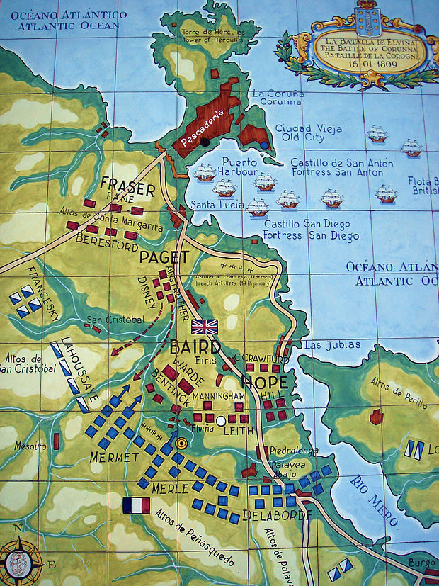 The positions of the armies at Corunna.