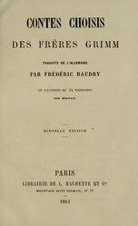 Frédéric Baudry: Contes choisis des frères Grimm