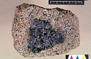 Bauxite - Bauxite with core of unweathered rock