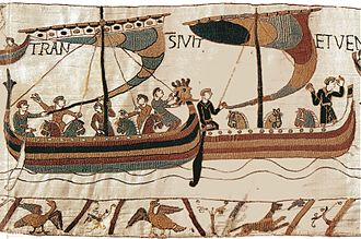 New Forest pony - 11th-century Normans shipping horses to England: Bayeux Tapestry