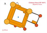 Bayonne-Château Vieux-Plan de masse.png