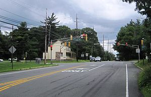 Bear Tavern, New Jersey - Approaching the center of Bear Tavern from the west