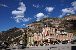 Beaumont Hotel (Ouray, Colorado) - Beaumont Hotel on Main Street in Ouray, Colorado