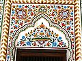 Beautiful wall fresco work at Window of Gurdwara Guru Singh Sabah Saidhpur Village Islamabad.jpg