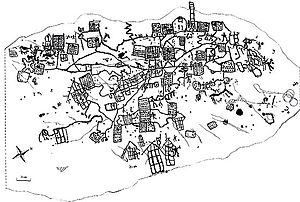 Bedolina Map - The general archaeo-iconographic tracing of the Bedolina Map (1996)