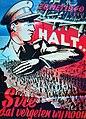 """Belgische Propaganda Poster Van Koning Leopold III met opschrifft """"28 Mei 1940, Halt, Sire Dat Vergeten Wij Nooit"""" naar aanleiding van de 18 daagse veldtocht.jpg"""