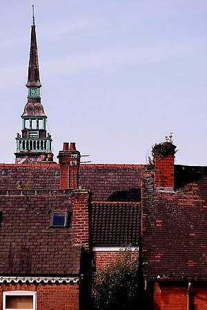 Moss Side - Bell tower of former Greenheys School in Moss Side