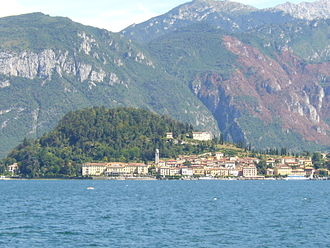 "Bellagio, Lombardy - View of Bellagio. The building under the crown of the hill is Villa Serbelloni, believed to have been built on the site of Pliny the Younger's villa ""Tragedy."" His villa ""Comedy"" was down on the shore."