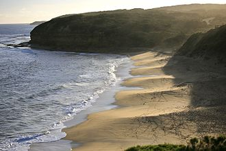 Bells Beach, Victoria - An overview of Bells Beach