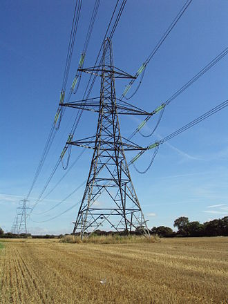 National Grid (Great Britain) - 400 kV power line in Cheshire