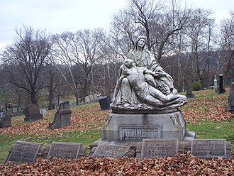 St. Mary Cemetery, Pittsburgh - Bennett monument at St. Mary Cemetery