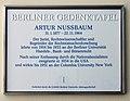 Berliner Gedenktafel Bebelplatz 2 (Mitte) Artur Nussbaum.jpg