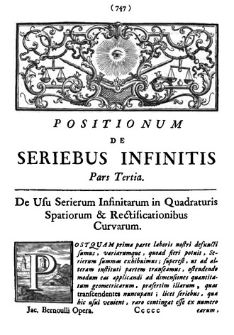 History of Grandi's series - Start of Positiones part 3, as reprinted in 1744
