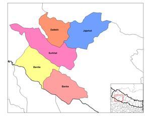 Bheri Zone - Image: Bheri districts