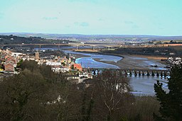 Bideford bridges from Upcott Hill - geograph.org.uk - 867952.jpg