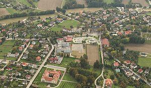 Hałcnów - Aerial view of Hałcnów