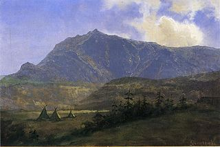Indian Camp in the Mountains