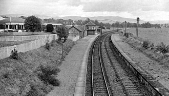 Biggar, South Lanarkshire - Remains in 1962 of Biggar station