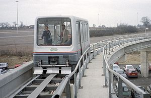 Birmingham Airport - The Maglev rapid transport system, which operated from 1984 to 1995, was the first commercial maglev system in the world