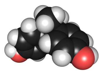 3D chemical structure of bisphenol A