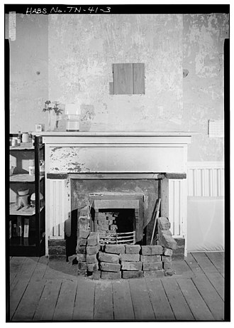 Blair's Ferry Storehouse - Fireplace inside the Blair's Ferry Storehouse