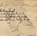 Blake manuscript - Notebook - page 054-Profile of a Man.jpg