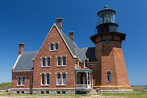 Block Island Southeast Light - The Block Island Southeast Light in May, 2015