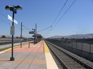 Blossom Hill station (VTA) - Station platform, September 15, 2012