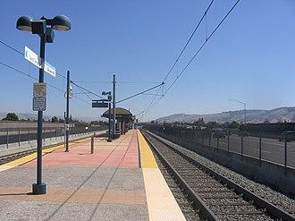 Blossom Hill station (VTA) - Station platform, September 15, 2012