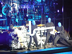 I Blue Man Group in concerto.