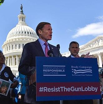 Richard Blumenthal - Blumenthal speaks in favor of gun control in 2017