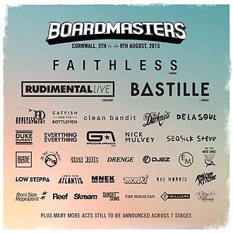 Boardmasters Festival - Music line up for Boardmasters Festival 2015