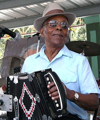 "Alphonse ""Bois Sec"" Ardoin - Bois Sec playing at the 2002 Festivals Acadiens in Lafayette, LA."