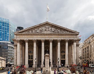 Accession Council - The final public reading in London is at the steps of the Royal Exchange building.